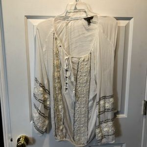 Tommy Bahama white peasant shirt